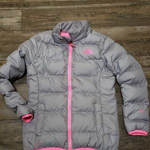 North Face 550 Girls Goose Down Puffer Jacket Sz M